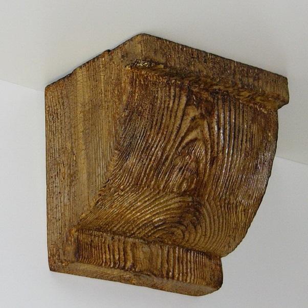 Консоль потолочная для оформления потолочных балок из полиуретана, цвет дуб, купить от производителя по низкой цене.