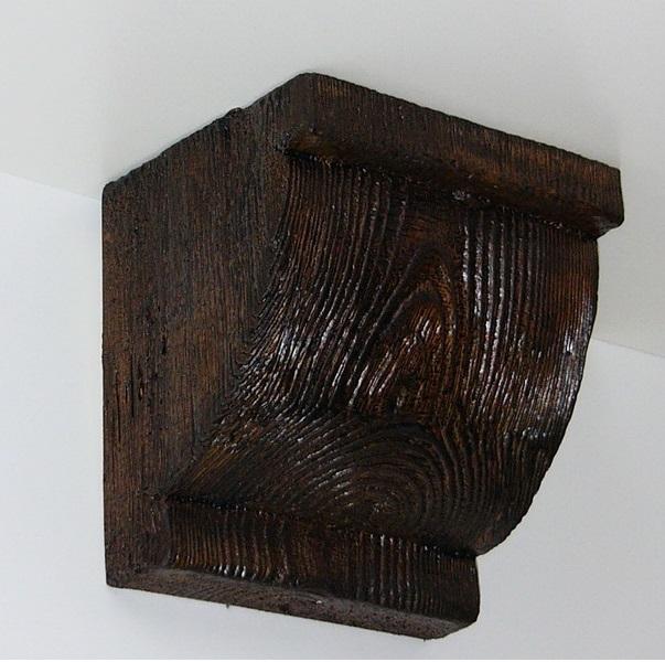 Консоль потолочная для оформления потолочных балок из полиуретана, цвет орех, купить от производителя по низкой цене.