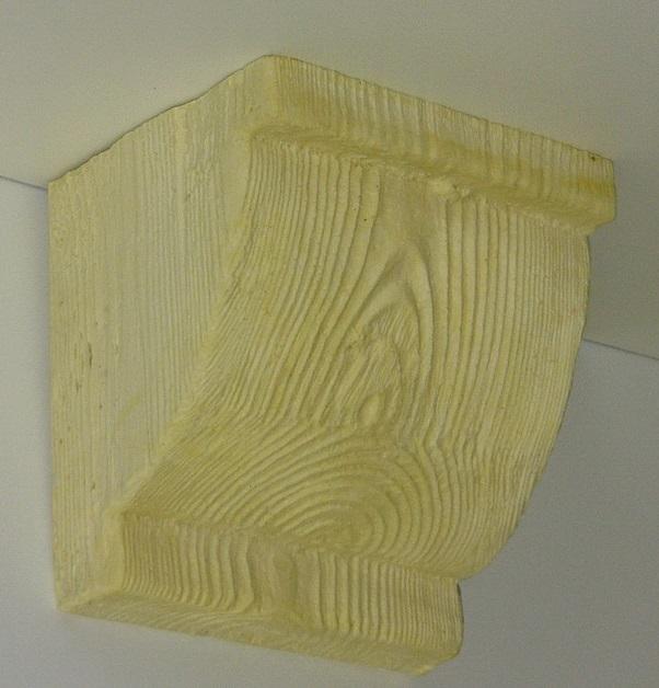 Консоль потолочная для оформления потолочных балок из полиуретана, неокрашенная под покраску, купить от производителя по низкой цене.