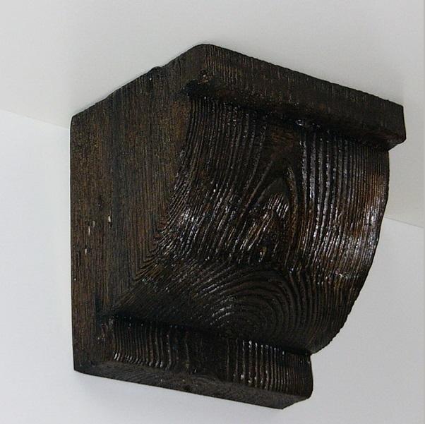 Консоль потолочная для оформления потолочных балок из полиуретана, цвет темный дуб, купить от производителя по низкой цене.