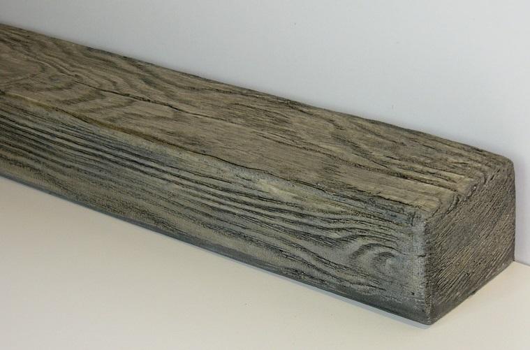 Северный дуб востребованный и современный цвет фальшбалок из пенополиуретана для дизайна интерьера.