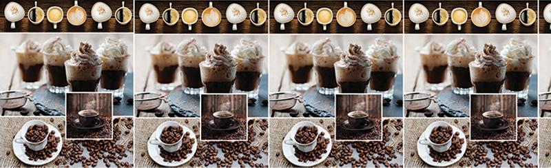 Кофе со сливками - фартук из АБС пластика для кухни