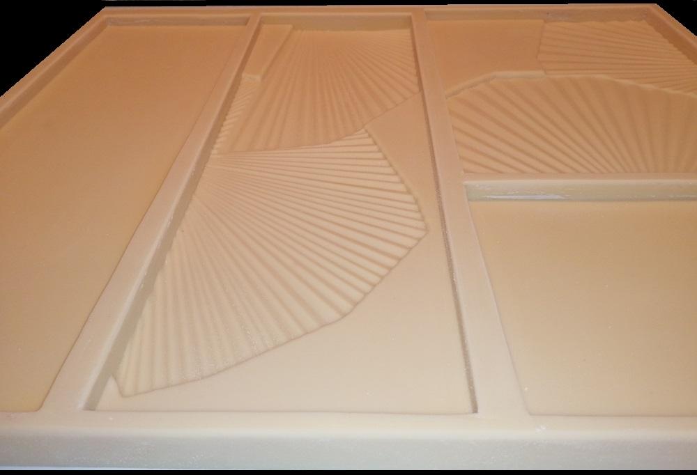 """форма из полиуретана для самостоятельного изготовления 3D панелей """"FLORA"""""""