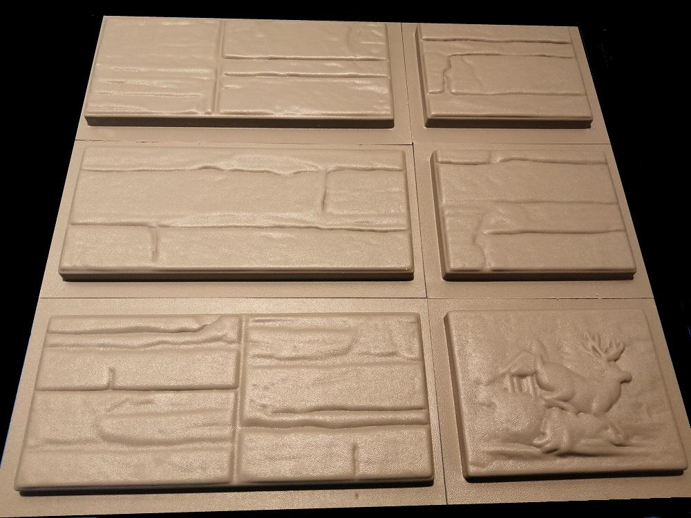 Форма для плитки Известняк на 6 элементов из полиуретана: