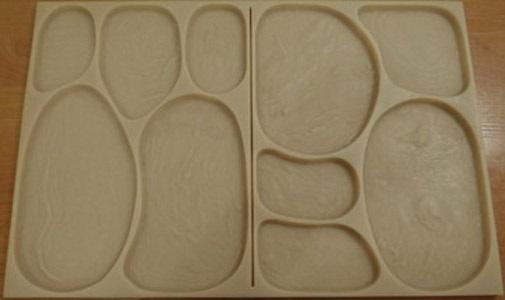 """формы для изготовления плитки """"Лунный камень"""" из гипса и бетона:"""