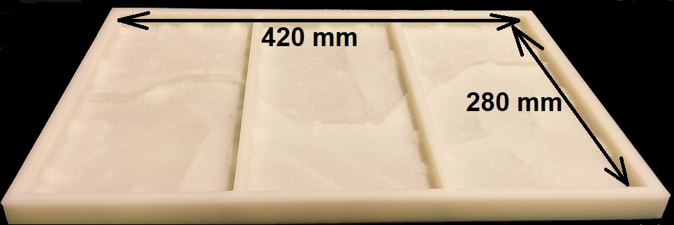 """Фото формы для искусственного камня -""""Песчаник Перуанский"""""""