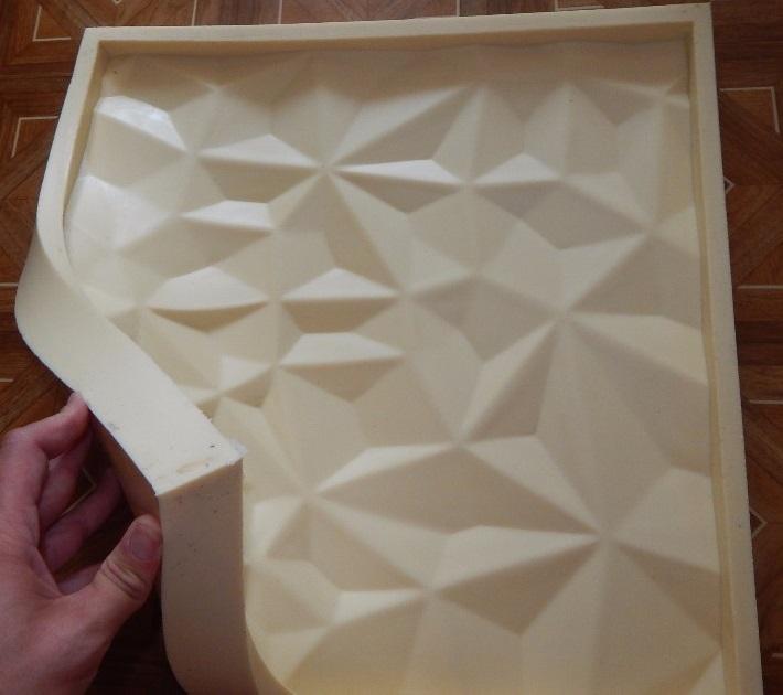 """Фотографии форм для самостоятельного изготовления 3D панелей """"СКАЛЫ"""""""