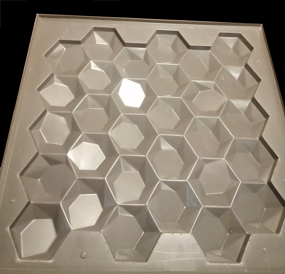 """Так же изготавливаем силиконовые и полиуретановые формы для изготовления 3D панелей из гипса модели """"УЛЕЙ"""""""