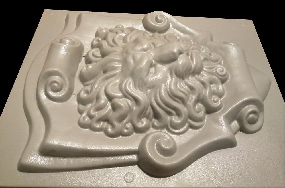 """форма для самостоятельного изготовления барельефа """"Лев на щите"""""""