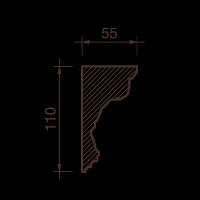 Карниз с рисунком ДК-35