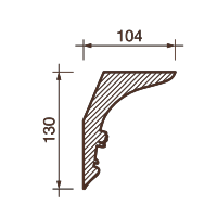 Карниз с рисунком ДК-40