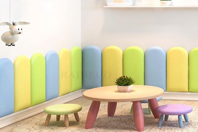 Мягкие стеновые панели не стандартных форм и расцветок в детскую комнату купить от производителя