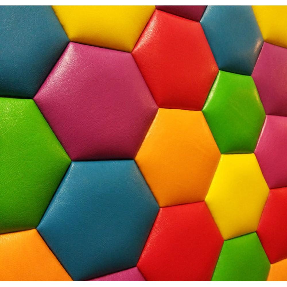 Мягкие стеновые панели не стандартных форм и расцветок