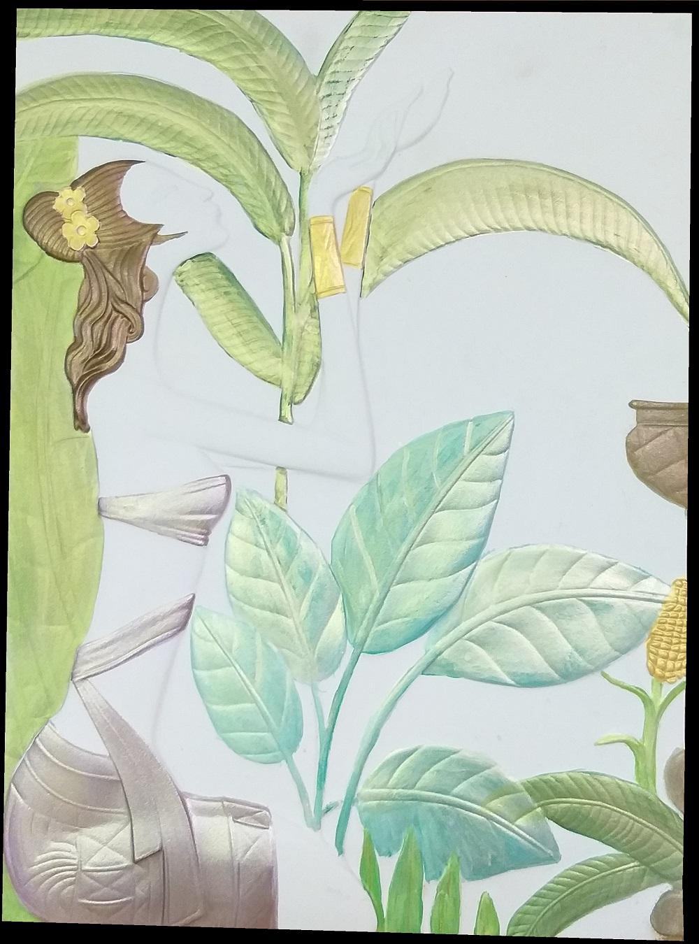 """По желанию Заказчика мастера нашей фабрики произведут ручную роспись барельефа """"Плодородие"""" в необходимой цветовой гамме"""