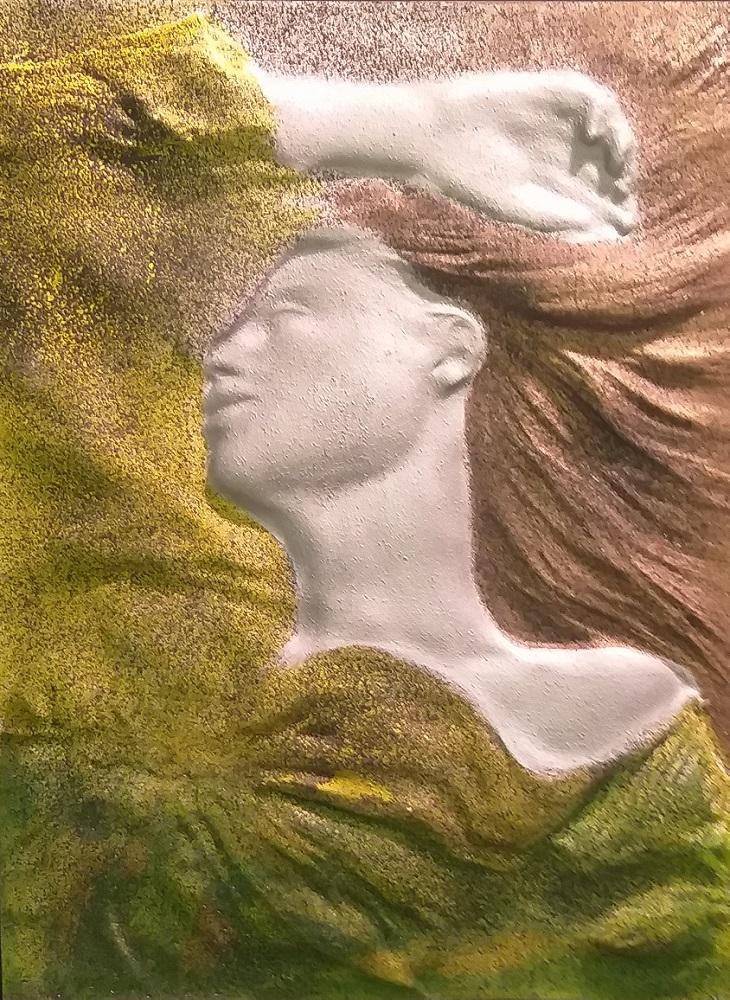 """По желанию Заказчика мастера нашей фабрики произведут ручную роспись барельефа """"Пробуждение"""" в необходимой цветовой гамме."""