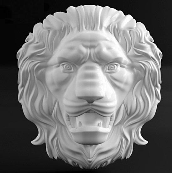 """3D панно барельеф """"ЛЕВ"""" из гипса от производителя"""