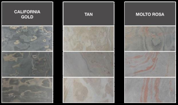 Slate (Сланец) фактура и цвет каменного шпона