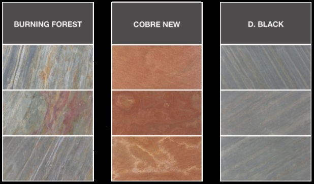 MYCA – это слюда и блеск происходит из-за высокого содержания кварца. Поверхность более твердая и не такая гладкая, как Slate. Этот материал особенно подходит для напольных покрытий и имеет очень разнообразные и красивые цвета.
