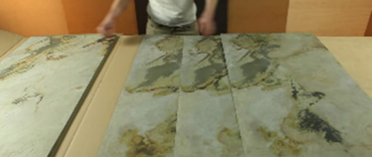 Подготовка каменного шпона