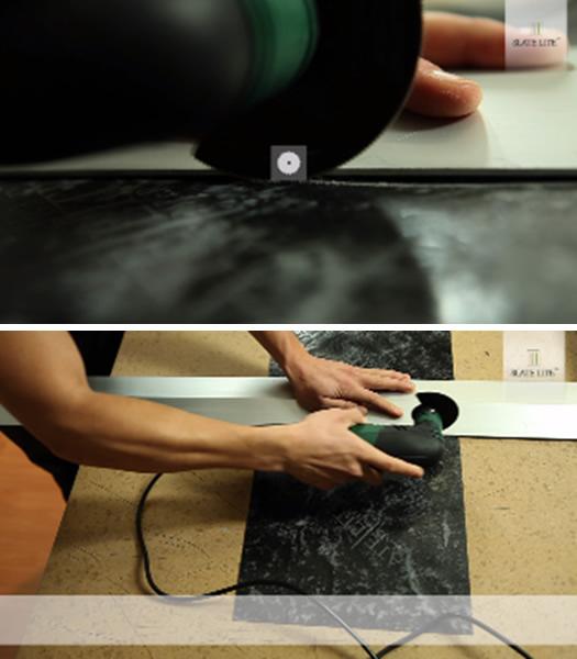 3. Резка и сверление каменного шпона: