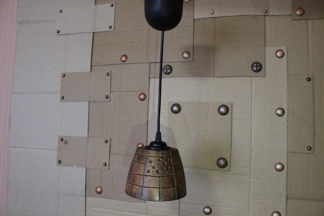 """Подвесной светильник из гипса """"Элемент"""""""
