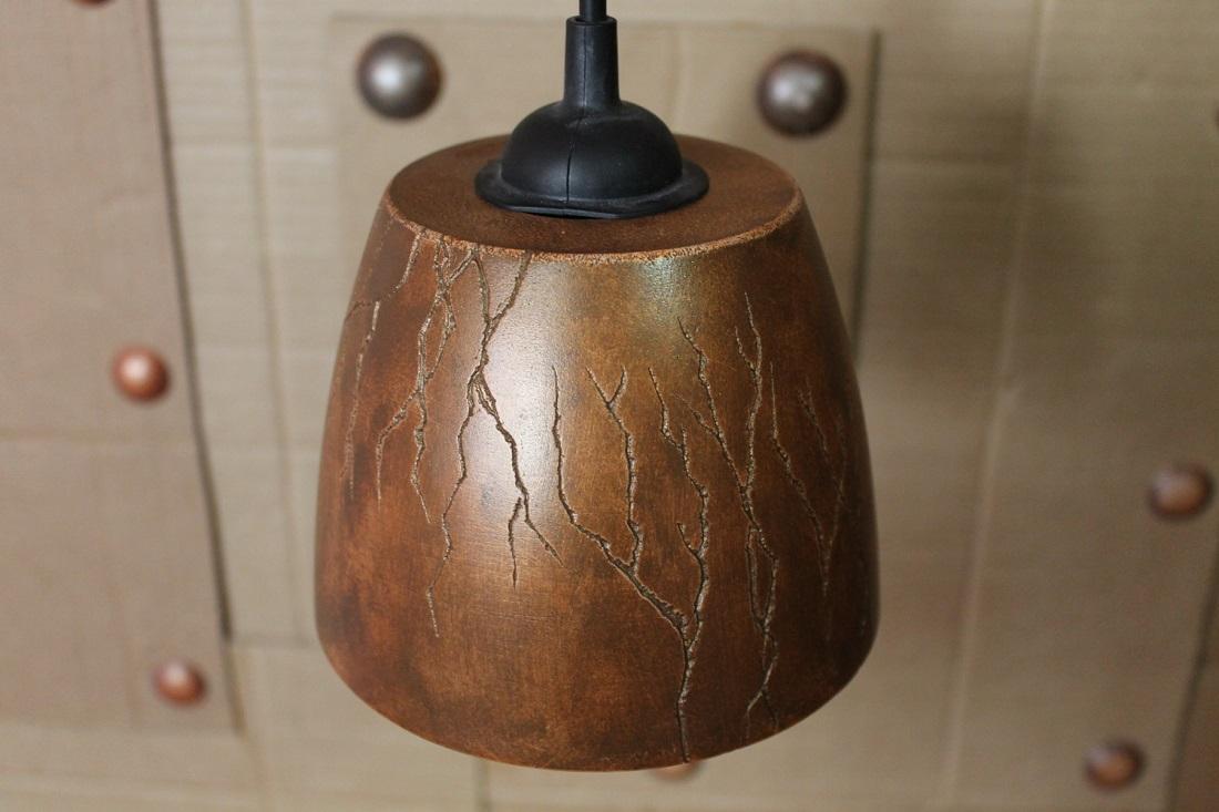 """Подвесной светильник из гипса """"Гроза"""""""